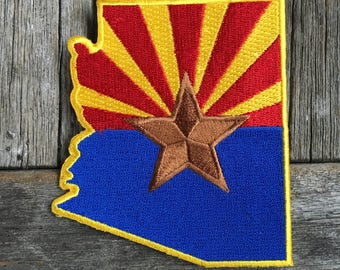 Arizona Flag Souvenir Travel Patch