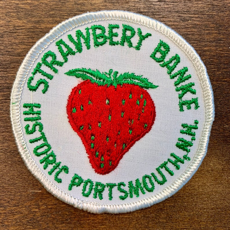 Historic Portsmouth New Hampshire Souvenir Travel Patch Strawberry Bank