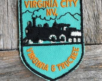 Virginia & Truckee Railroad, Virginia City Nevada Vintage Travel Patch - LAST ONE!