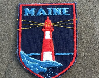 Maine Vintage Souvenir Travel Patch by Voyager