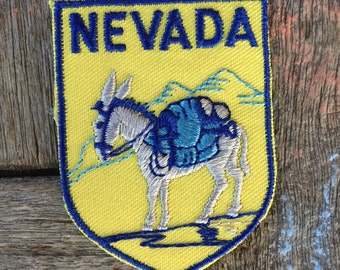 Nevada Vintage Souvenir Travel Patch by Voyager