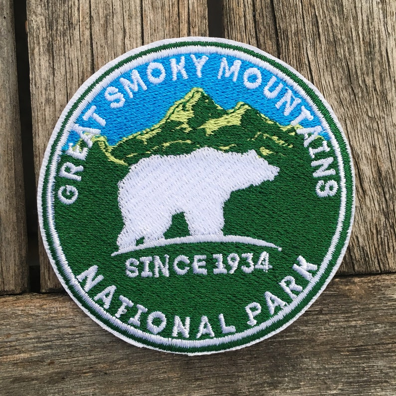 New Great Smoky Mountains National Park Iron On 3 Inch Patch Black Bear