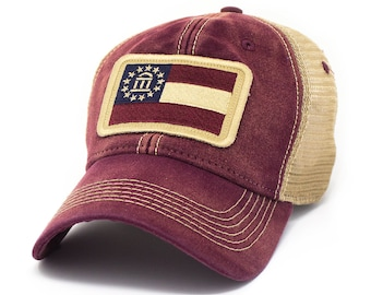 6be550c482fb1 State Flag Trucker Hats   Outdoor Lifestyle by SLRevivalCo on Etsy