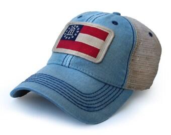 b2453d82d50 Georgia Flag Patch Trucker Hat