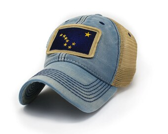 5da809e307c Alaska Flag Patch Trucker Hat