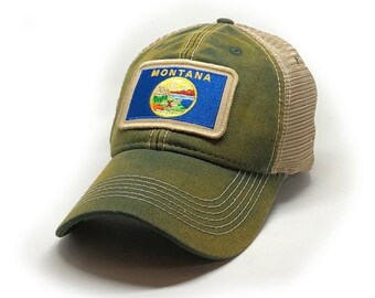 Montana Flag Patch Trucker Hat 78860c233073