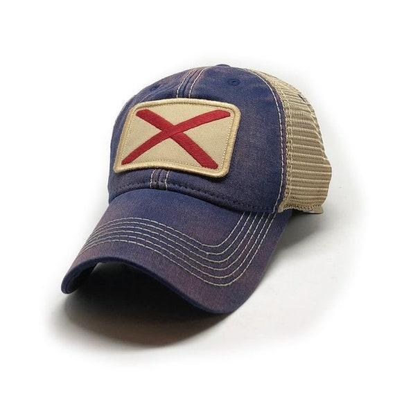 0a098386193 Alabama Flag Patch Trucker Hat Navy