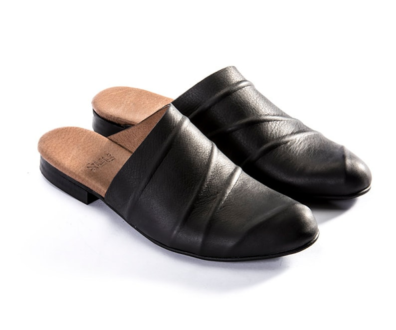 0b5bebf1fcda0 Brown Open-Backed, Leather, Mules, Clogs, Slides, Open Shoes, Dress Shoes,  Sandals, Israel, Pointy Toe Flats, Shoes For Woman, Designer,