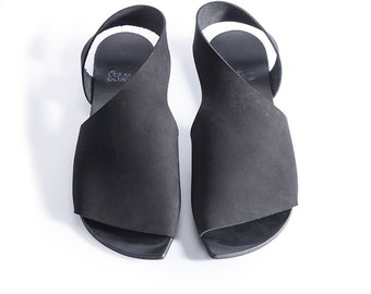Leather sandals, Black Flat Sandals, Shoes, Woman flat, Slingbacks, Sandals Woman, Comfortable women shoes, Shoes Israel, Una Una Shoes