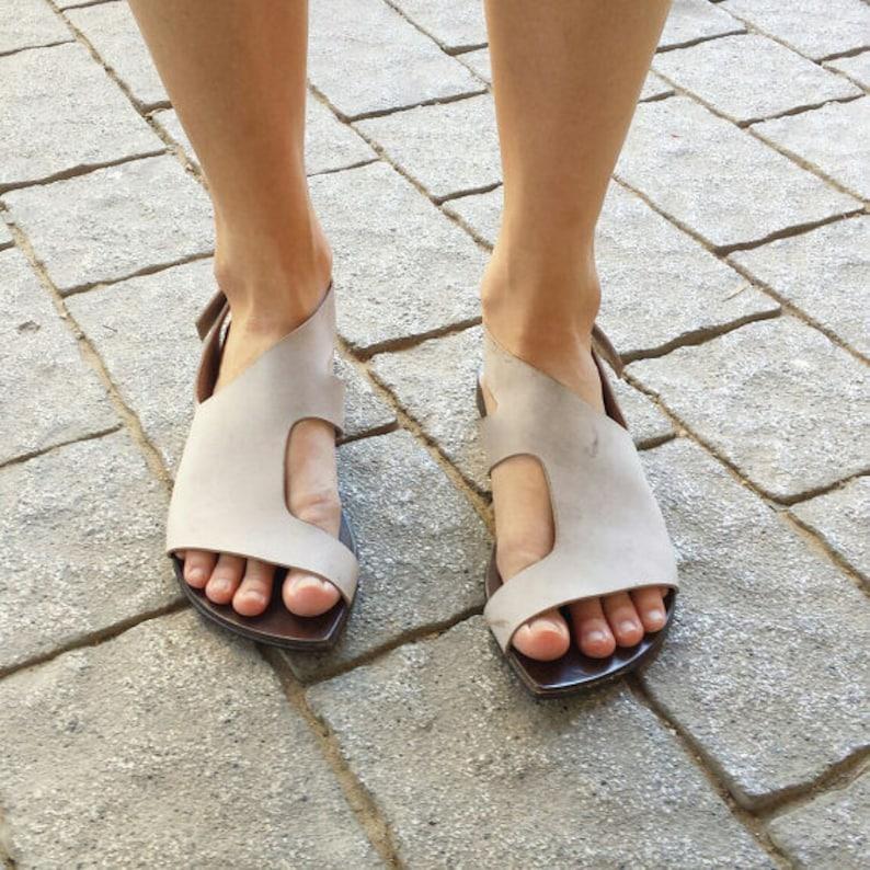 f50aceb231f Sale Leather sandals Stone Womens sandals Woman flat