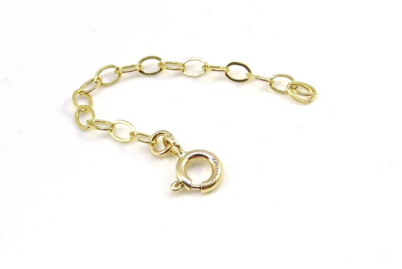 Gold extension chain 14k yellow gold filled extender image 0
