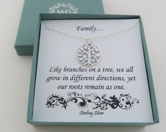 Tree of Life Necklace, Family Tree Necklace, family gift,  like branches on a tree, sterling silver, family necklace, jewelry for mom