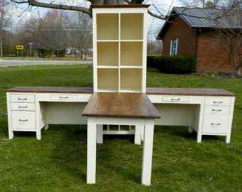 Farmhouse Style Rustic Office Component Set