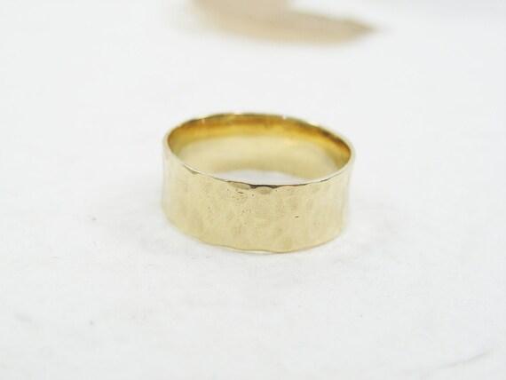 Textured wedding band Wide wedding band Gold rind White gold wedding band Gold wedding band gr-9162-654 Autumn leaves wedding band