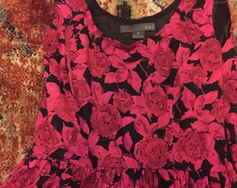 sweetheart PINK ROSE dress medium