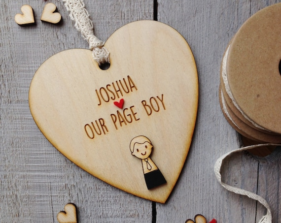 Page Boy gift - Personalised page boy gift - wedding attendants gift