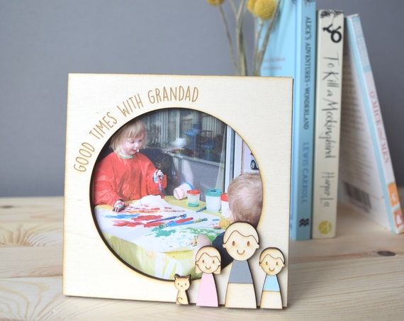Personalised Photo Frame - Father's Day gift - Keepsake for Dad - Gift for Grandad - Fathers Day