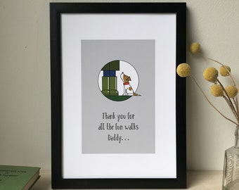 Thanks for all the great walks Daddy Father's Day print