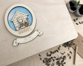 Grandad's seed box - Personalised father's day gift