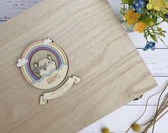 Personalised Wooden Noah's Ark Christening Keepsake box
