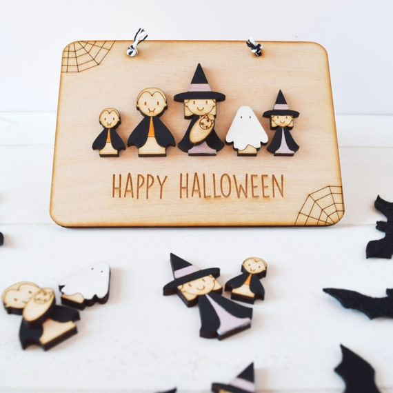 Personalised Family Halloween sign