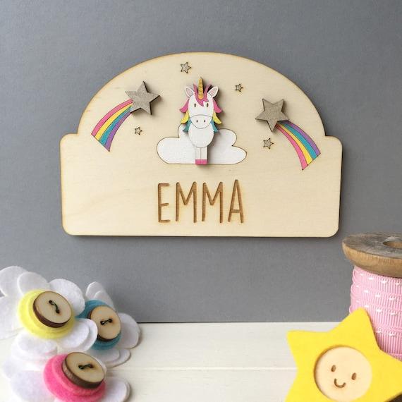 Unicorn Door Plaque - Child's name sign - Nursery sign - Unicorn