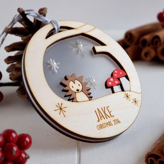 Personalised Baby/'s 1st babioles de Noël Woodland Rabbit Arbre de Noel Décoration