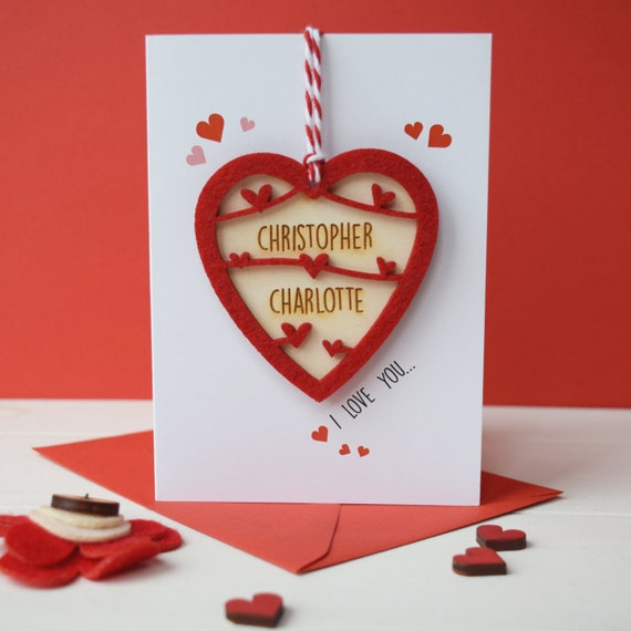 Valentines Day love token card - love card - keepsake card