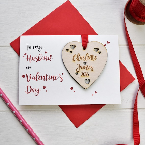 Husband's Valentine's card - Personalised Valentine's card and love token - Love card