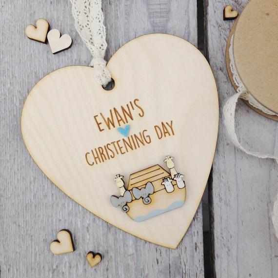 Christening keepsake - Baptism - Naming Day - Personalised keepsake heart