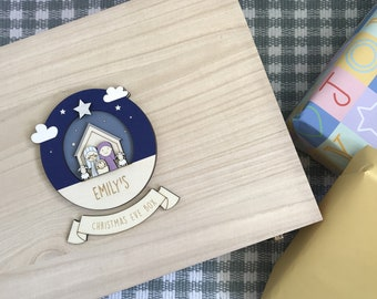 Personalised Nativity Christmas Eve box