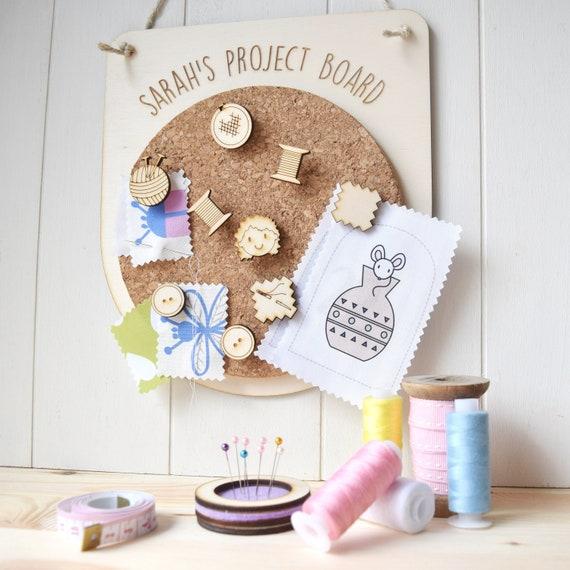 Notice board - pin board for crafts - project board - studio board - craft ideas board