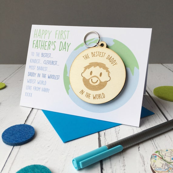 Father's Day card - Daddy Keyring - First Fathers Day
