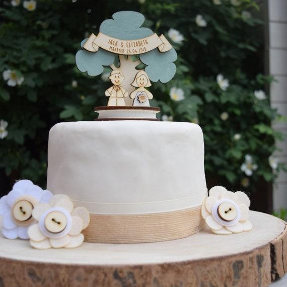 Bride & Groom wedding topper - personalised cake topper - keepsake decoration