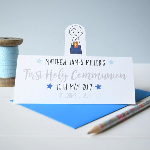 Boy's First Holy Communion Card - Personalised card - Holy Communion - Confirmation - Confirmation card