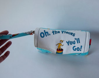 Dr. Suess NCW Wallet, Necessary Clutch Wallet, Wristlet, Graduation Gift, Oh, the places you'll go!