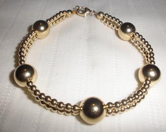 Gold Double Strand Bracelet