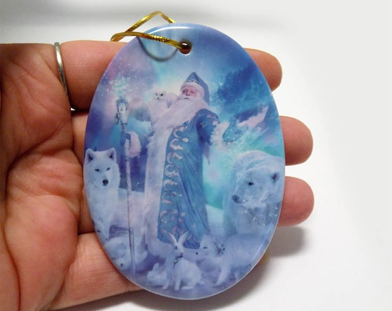 ceramic Holiday artwork Christmas ornament