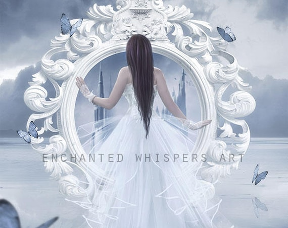 fantasy bride art print by Enchanted Whispers