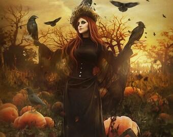 halloween art etsy