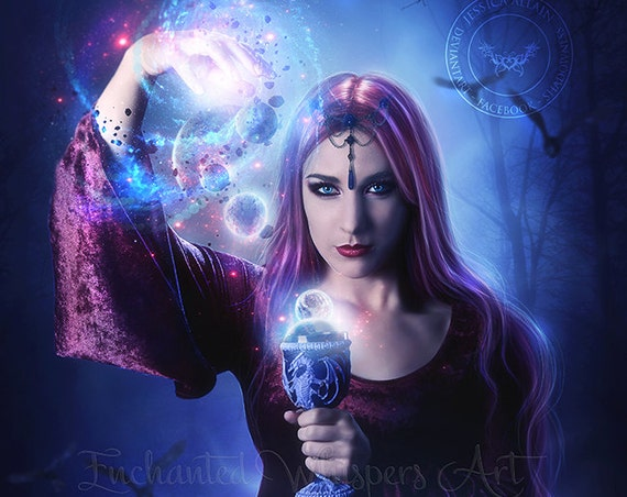 Pagan witch fantasy art print by Enchanted Whispers