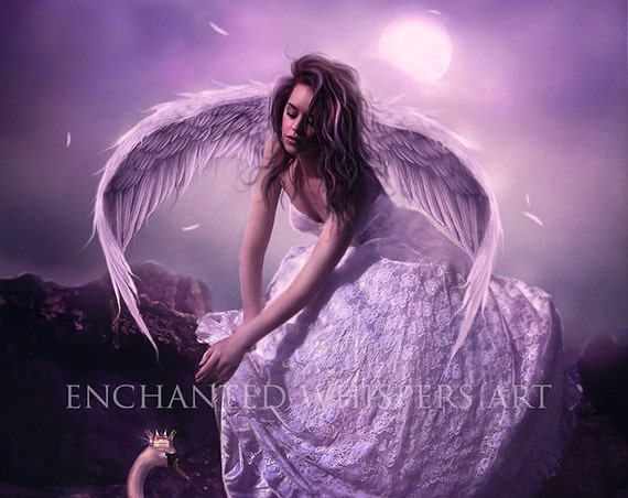 fantasy angel art print