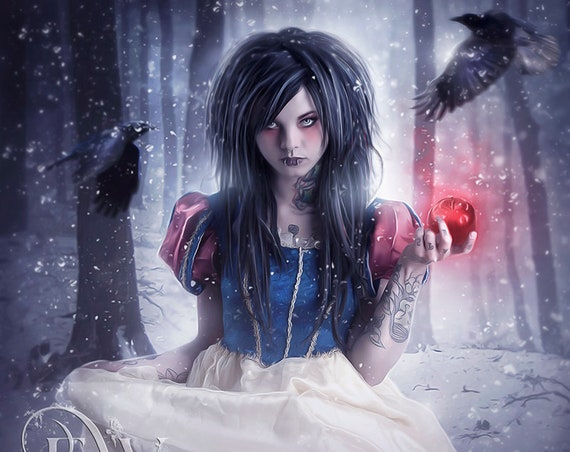 Gothic Snow White art print