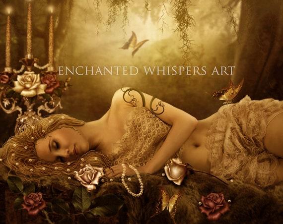 Beautiful woman fairytale art print