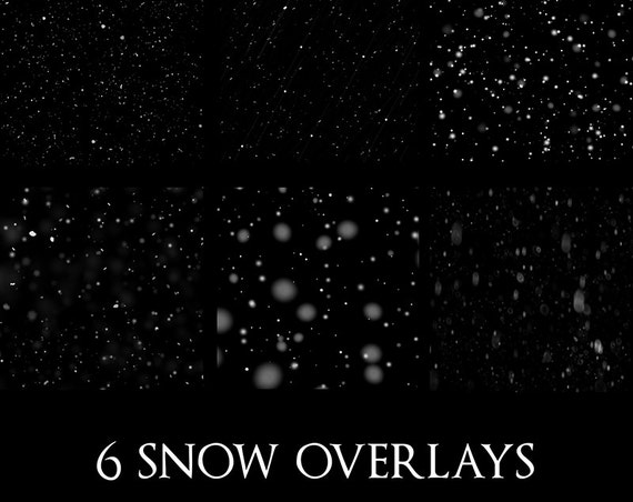 winter snow Photoshop overlays