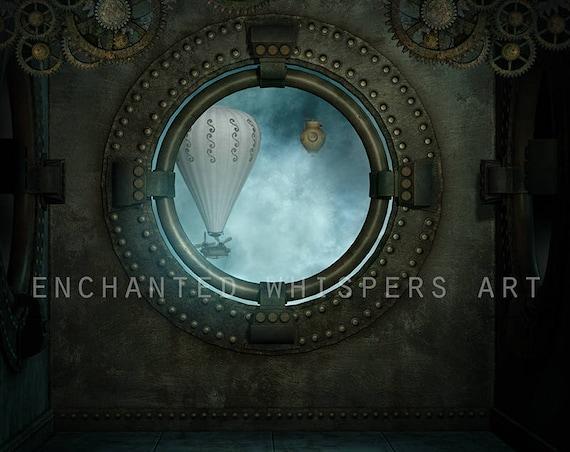 Steampunk background Photoshop digital background
