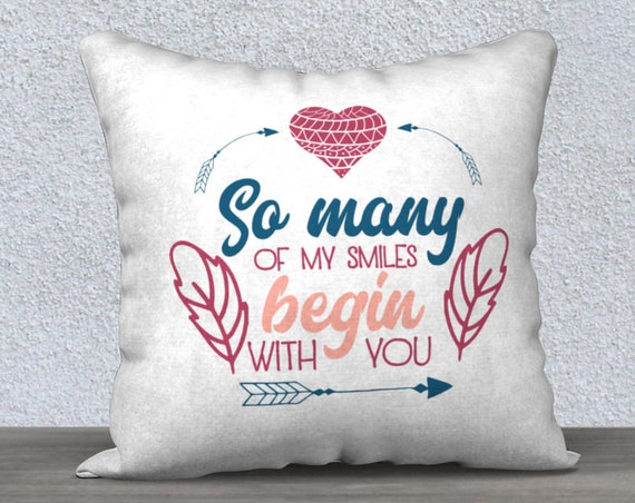 cute quote pillow cover case size 18x18 inches