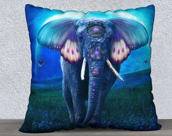 fantasy elephant original art pillow case