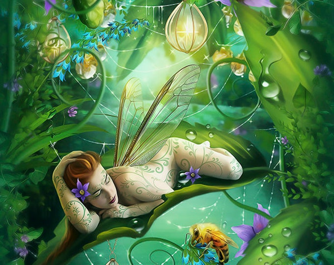 Fantasy fairie art print by Enchanted Whispers Art
