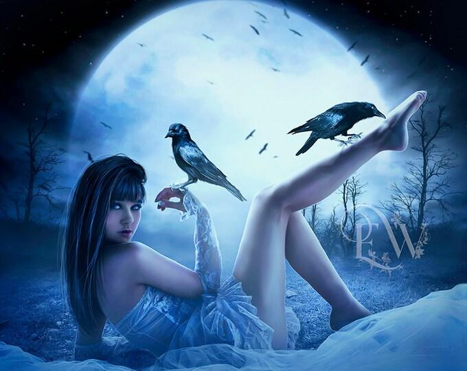 Gothic fantasy woman art print Gothic poster